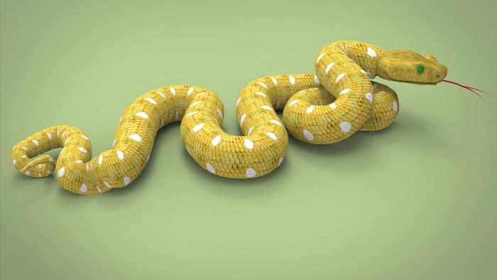 Que signifie un rêve de serpent jaune ?