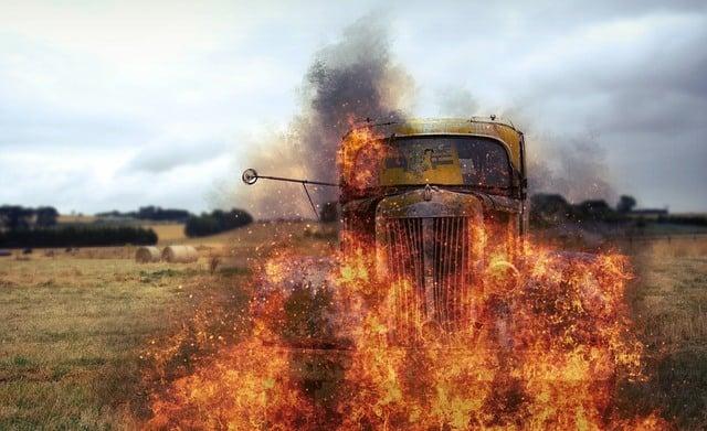 Que signifie rêver de camion en feu ?